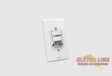Interruptor 2 Teclas Simples + Tomada 2P+T 20A  - Cod 5699 - Artis -  Enerbras