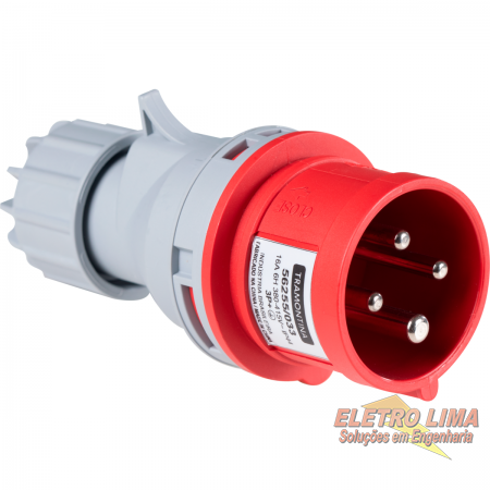 Plug Movel Industrial 3P+T 380V - 16A - Cod 6986 - Tramontina