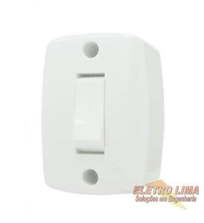 Interruptor 1 Tecla Simples De Sobrepor - Cod 292 -  Ilumi